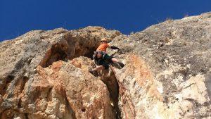 Vía de escalada de 2 largos